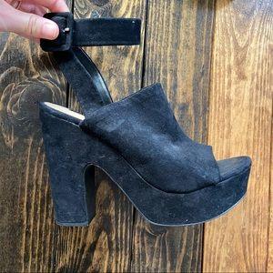 Zara Chunky Black Heels
